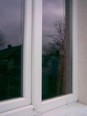 Окно из профиля КВЕ-platina-внешняя сторона