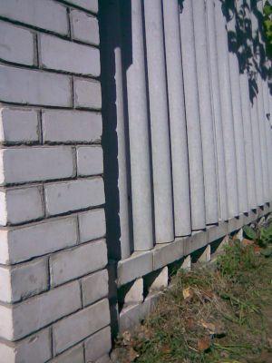 Построенный забор
